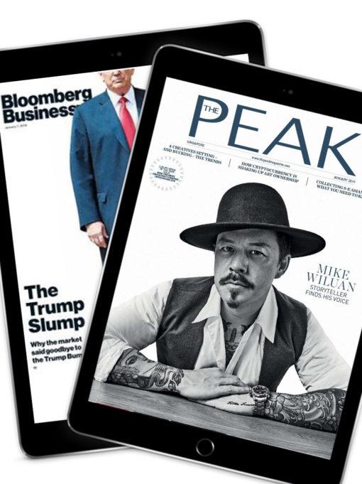 Bloomberg Businessweek and Peak Singapore